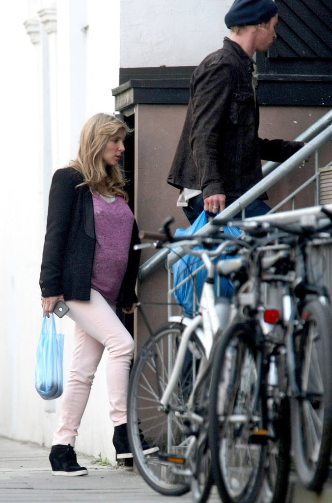 Chris Hemsworth with his pregnant wife Elsa Pataky.