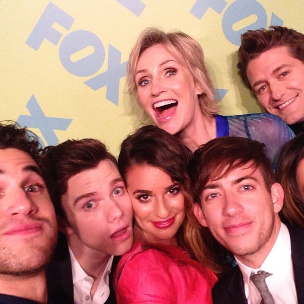 She popped into a photo booth with her Glee castmates in May 2013. Source: Instagram user msleamichele