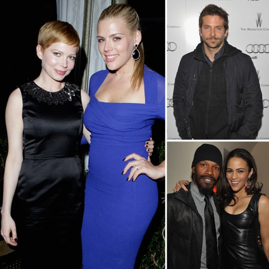 Michelle and Busy Join Bradley at a Weinstein Co. Pre-Globes Bash