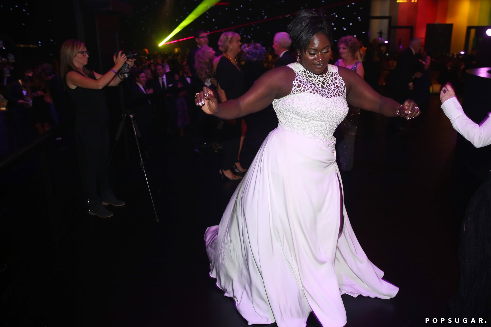 OITNB's Danielle Brooks commanded attention on the dance floor at the Governors Ball.