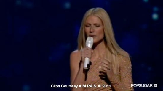 Video of Gwyneth Paltrow Performing at the 2011 Oscars