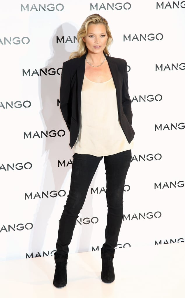 Kate Moss posed in black and white for Mango.