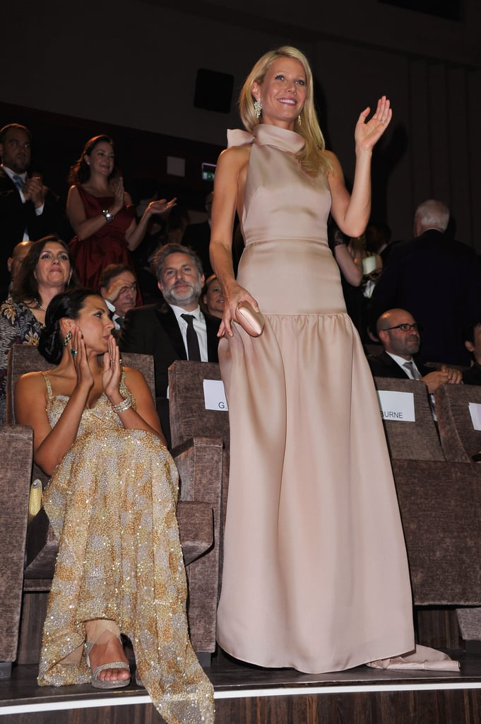 Luciana Damon and Gwyneth Paltrow in Venice.