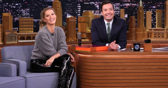 Gisele Bundchen's Legs Could Not Look Longer in These High-Shine Leather Pants