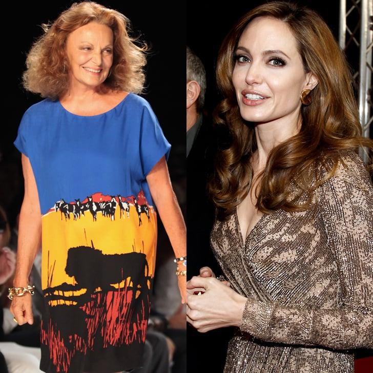 Diane von Furstenberg Played by Angelina Jolie
