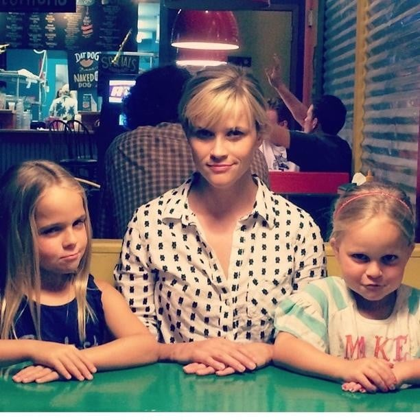 Reese Witherspoon hung out with her nieces, who look just like her. Source: Instagram user reesewitherspoon