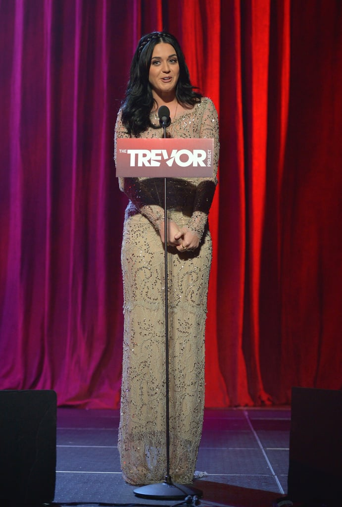 Katy Perry was on stage at the Trevor Live benefit in LA.