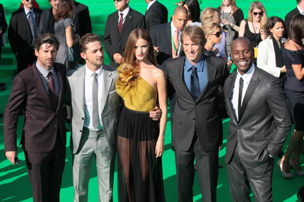 Patrick Dempsey and Rosie Huntington-Whiteley joined the veteran cast members of Transformers at the Moscow premiere.