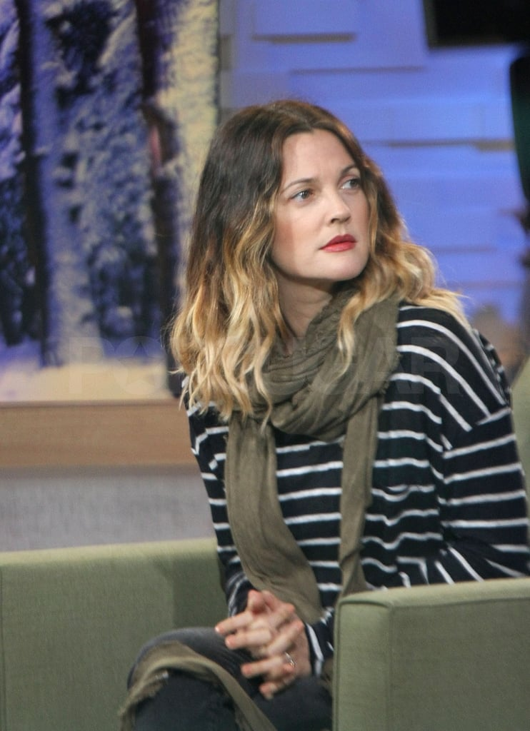 Drew was up before dawn to talk about her new film, Big Miracle.