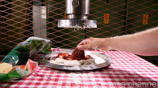 Hydraulic Press Pizza Is Definitely Not The Best Pizza You've Ever Had