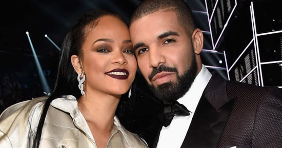 Rihanna Tenderly Stroked Drake's Face at a Club Last Night