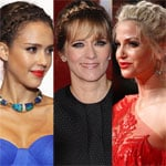 Jessica Alba, Sarah Harding, Edith Bowman Hair at the BAFTA Awards