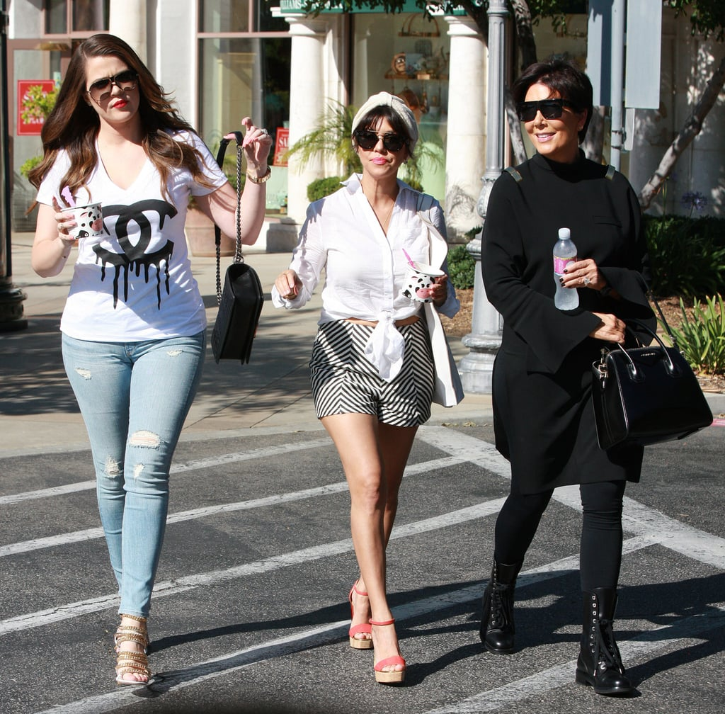 The Kardashians Can't Control Their Smiles While Kim Considers a Baby Name