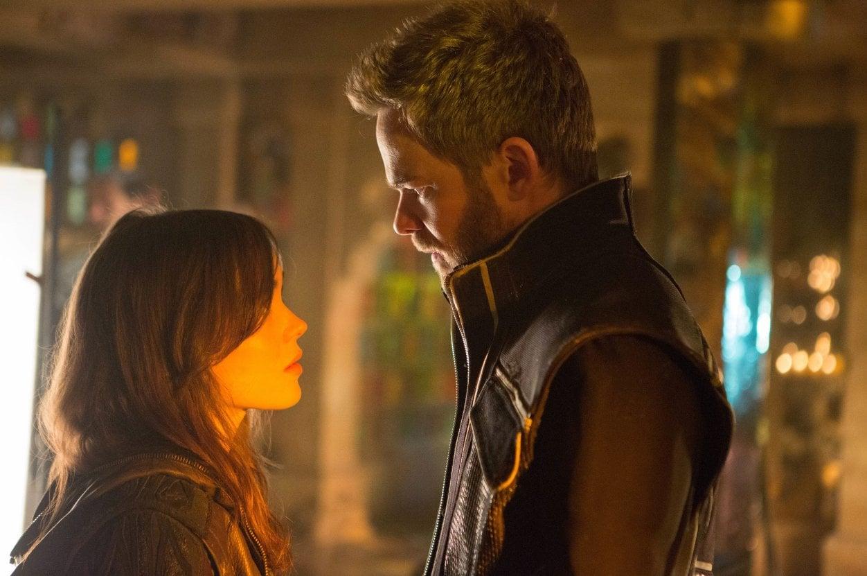 Kitty Pryde, aka Shadowcat (Ellen Page), and Bobby Drake, aka Iceman (Shawn Ashmore), share a tender moment.