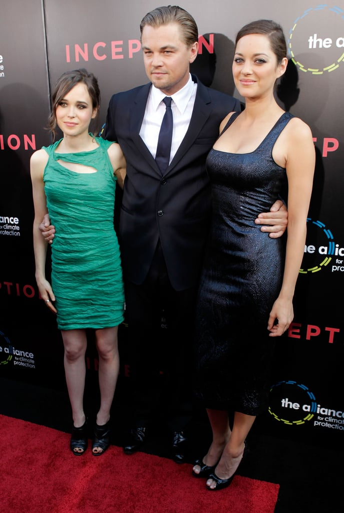 Leo attended the July 2010 premiere of Inception with costars Ellen Page and Marion Cotillard.