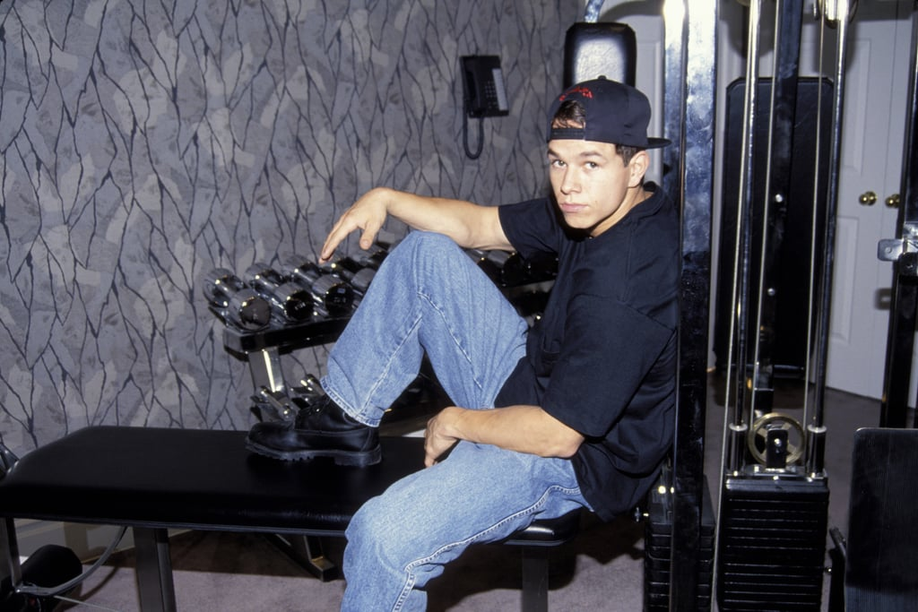 """Naturally, Mark released a workout video in 1993 called """"The Marky Mark Workout: Form . . . Focus . . . Fitness."""""""