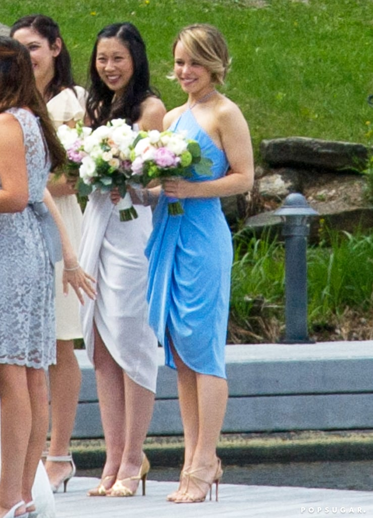 Rachel McAdams was spotted flashing a smile at her sister, Kayleen's, nuptials in Canada in May 2015.