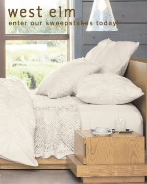 Sugar Shout Out: Win a $5,000 West Elm Sweepstakes!