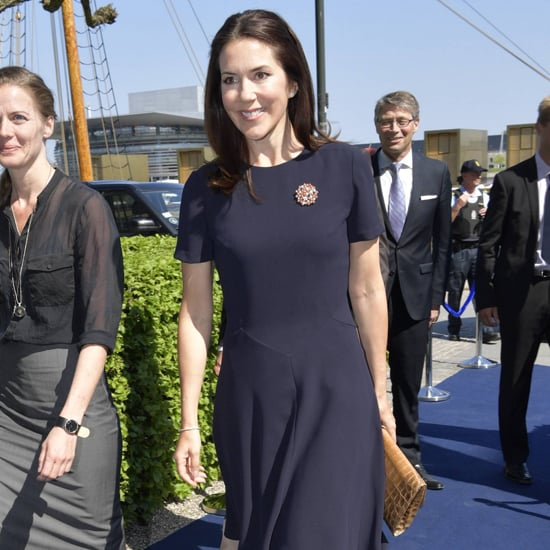 Princess Mary Navy Blue Dress at Idaho Forum May 2016