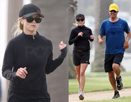 Pictures of Reese Witherspoon and Jim Toth Going For a Run as He Reportedly Shops For a Ring