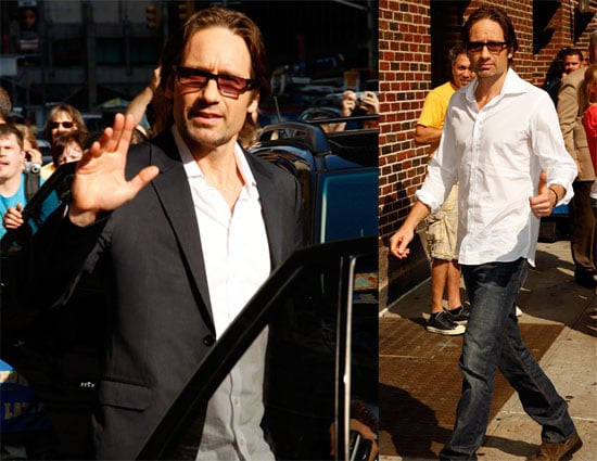 Photos and Video of David Duchovny on The Late Show With David Letterman July 2008