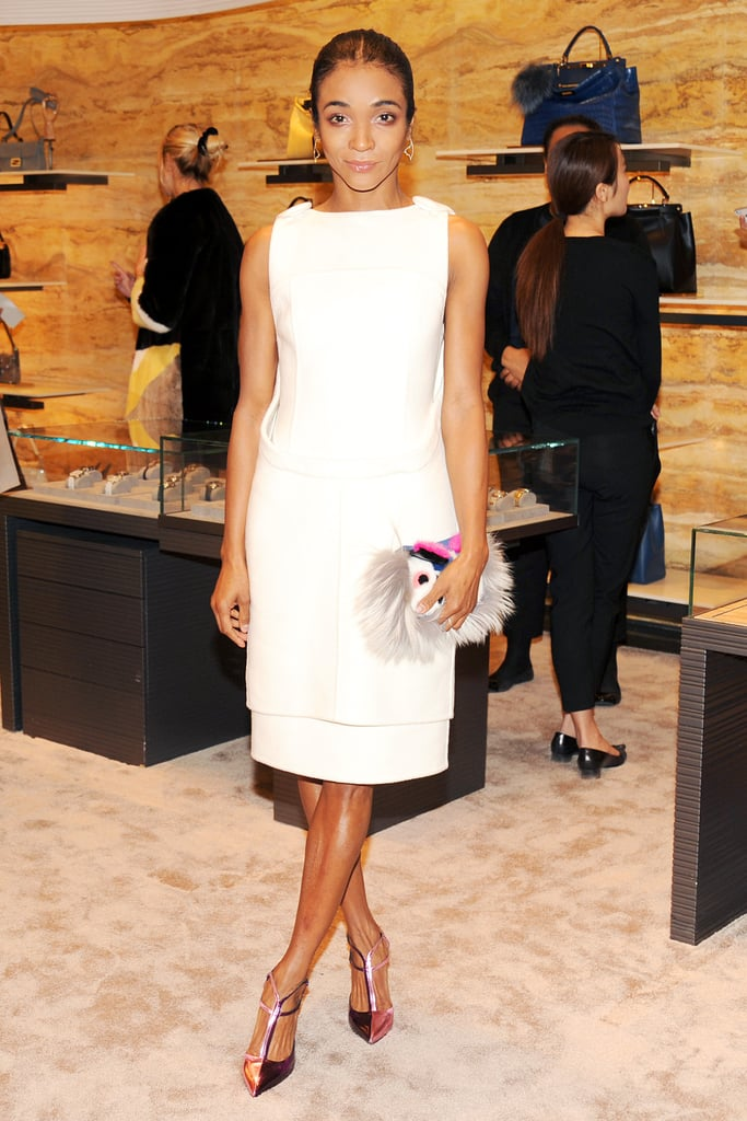 Genevieve Jones in Fendi at Vogue's Fendi Buggies launch.