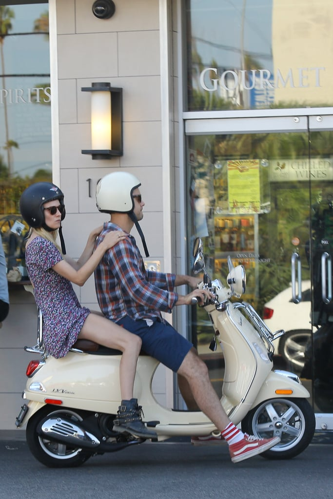 Diane and Josh took their love on a Vespa in LA in July 2013.