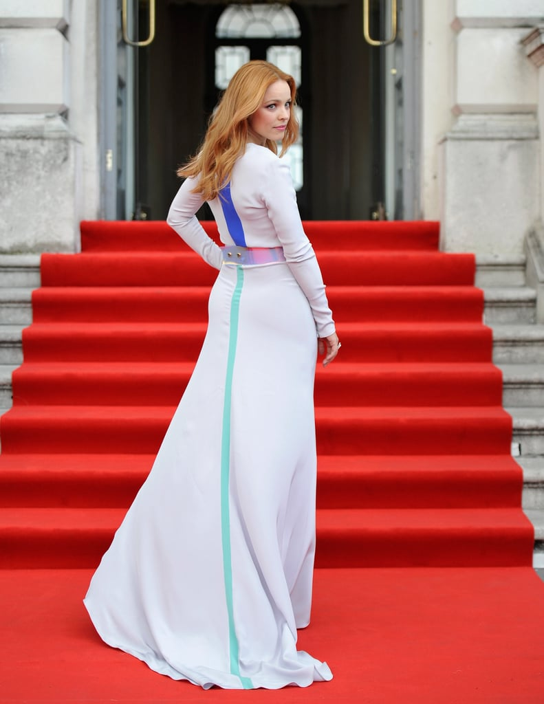 Rachel McAdams showed off her Roksanda Ilincic gown at the premiere of About Time at the Somerset House in London.