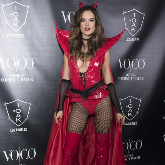 Alessandra Ambrosio Hosts Halloween Party in Devil Costume