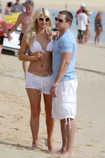 Pictures of Paris Hilton in Bikini and Cy Waits on Beach in Mexico