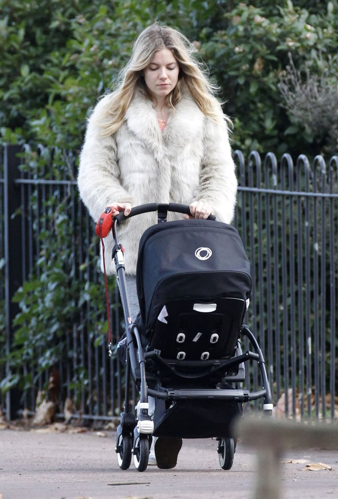Sienne Miller went for a walk with her daughter.