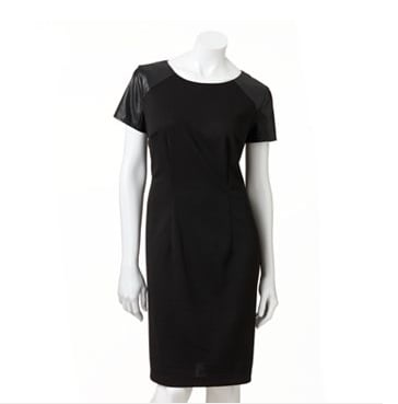 The essential black work sheath, except this AB Studio dress ($30, originally $60) comes with a little faux leather.