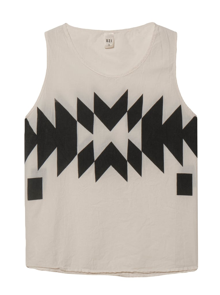 Why go with a boring tank or tee when you can liven things up a little? Some geometry adds something extra to any look. Try it yourself with this Uzi tank ($71).