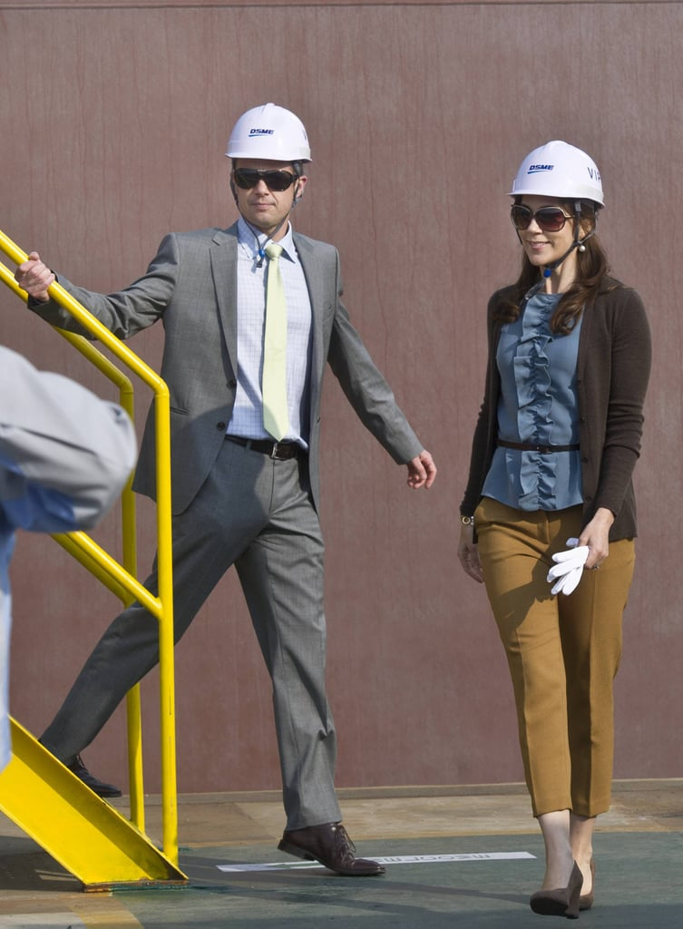 Somehow even wearing a hardhat Mary looks put-together.