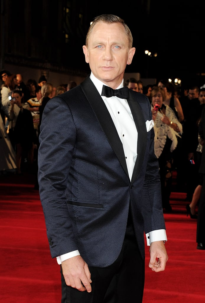 Daniel Craig stepped onto the red carpet for Skyfall's London premiere.
