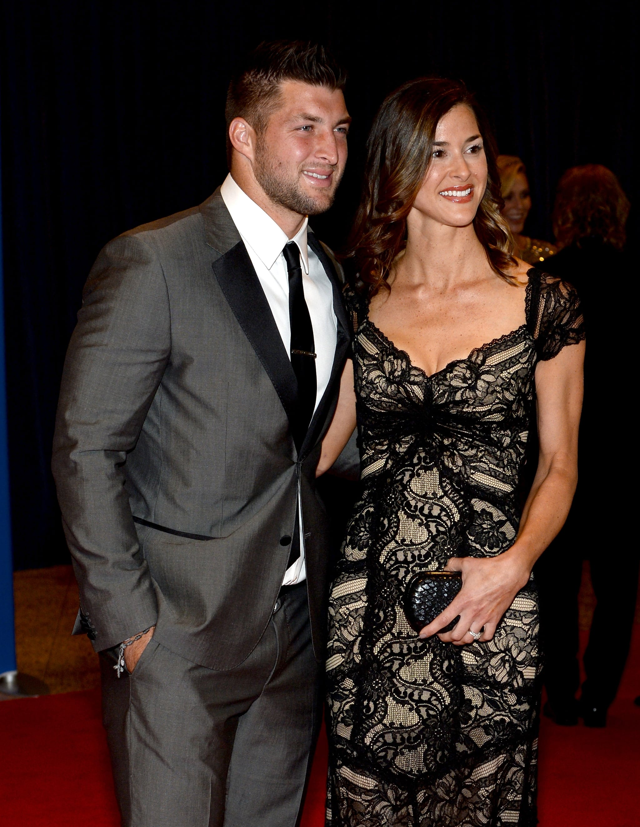 Tim Tebow brought a date.