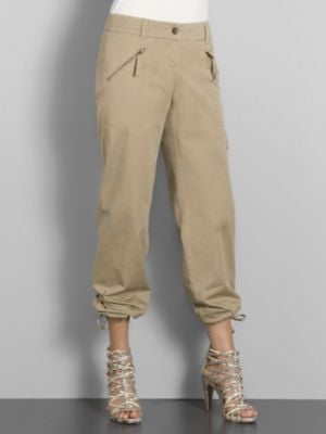 Trend Alert: Silky Cropped Khakis