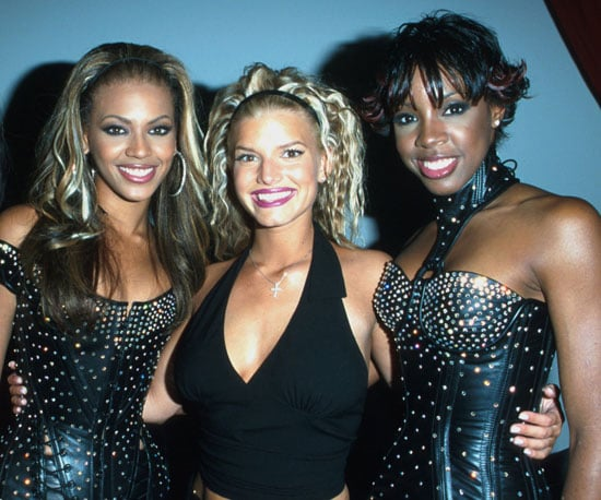 Beyonce, Jessica Simpson and Kelly Rowland posed together backstage in 2000.