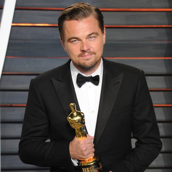 Leonardo DiCaprio Backstage After Winning Oscar