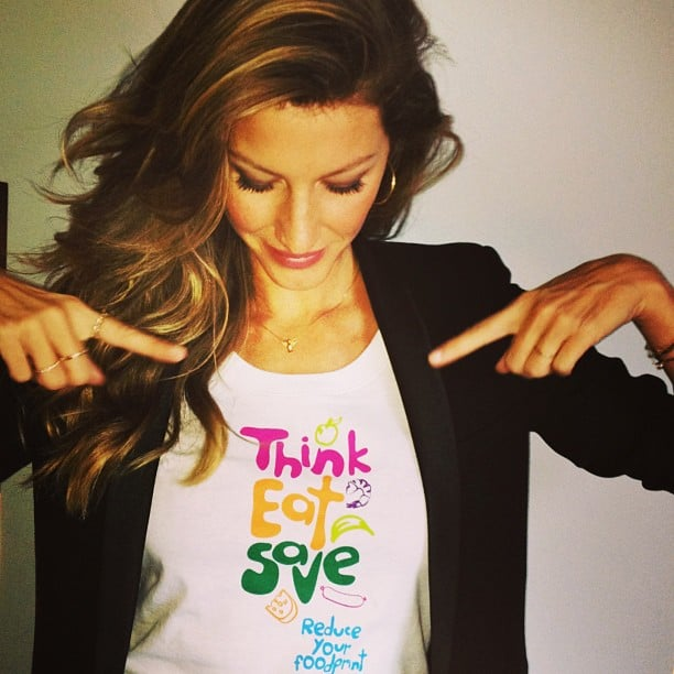 Gisele Bündchen promoted the United Nations's Think.Eat.Save campaign. Source: Instagram user giseleofficial