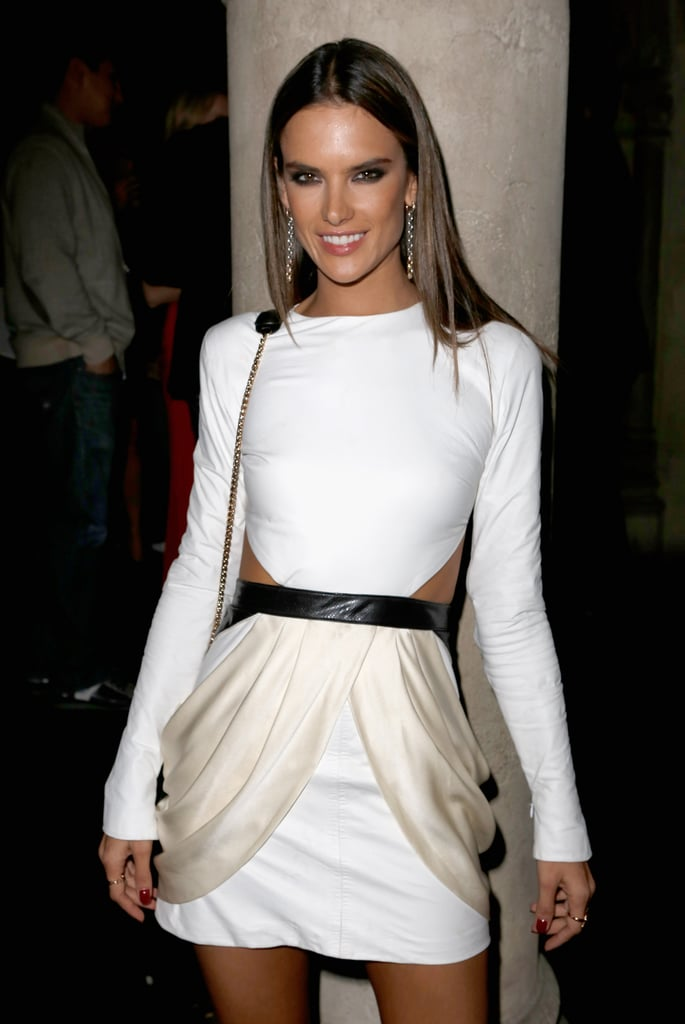 Alessandra Ambrosio celebrated at GQ's afterparty.