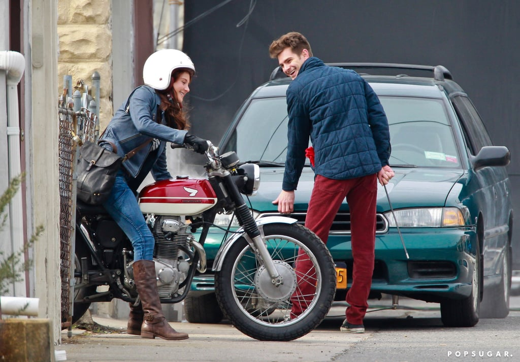Andrew Garfield Suits Up For the Spidey Sequel With Shailene Woodley