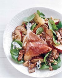 Spinach Salad With Plums and Bacon Vinaigrette
