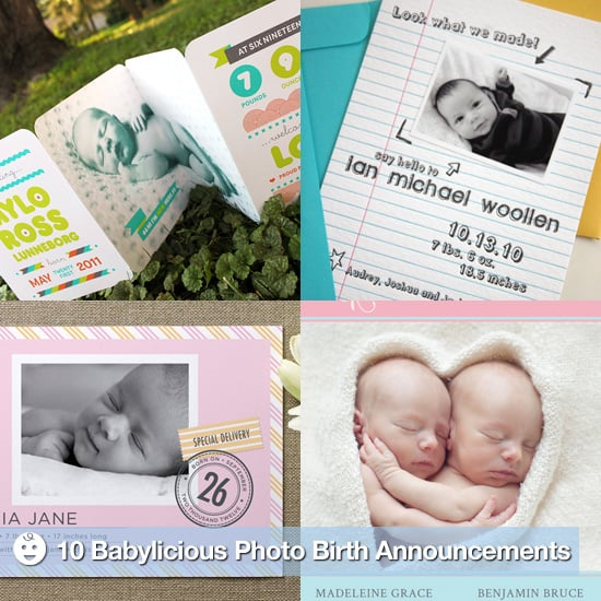 Unique Photo Birth Announcements to Announce a New Baby
