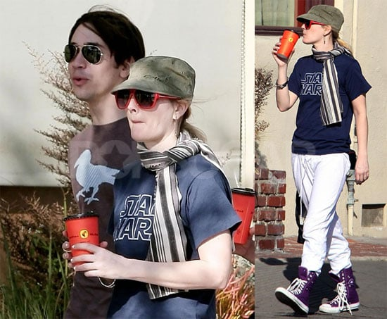 Photos of Drew Barrymore and Justin Long in LA