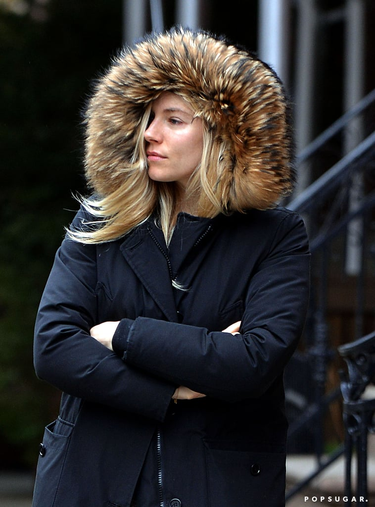 Sienna Miller Is Pretty in a Parka on a Cold NYC Day