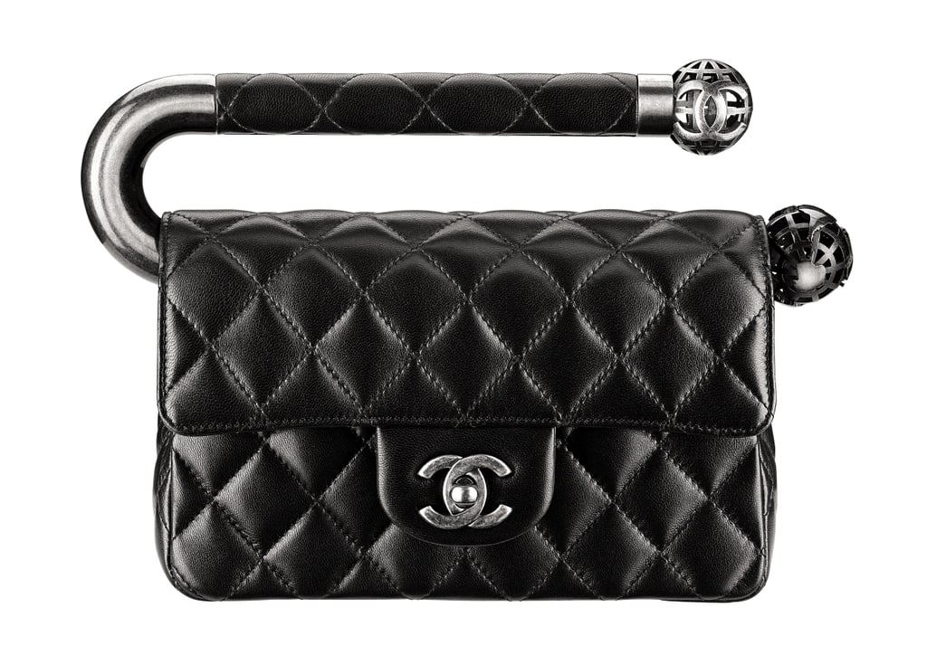 Chanel Black Quilted Leather Bag With a CC Lock and Metal Handle Photo courtesy of Chanel