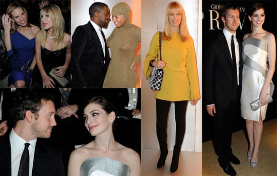 Photos of Kanye West, Hilary Swank, Giorgio Armani, Anne Hathaway, And Alexa Chung at The Paris Couture Shows