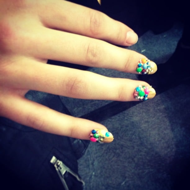 Talk about a 3D manicure. We're loving this colorful look from Libertine.