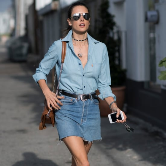 Alessandra Ambrosio's Denim-on-Denim Look June 2016